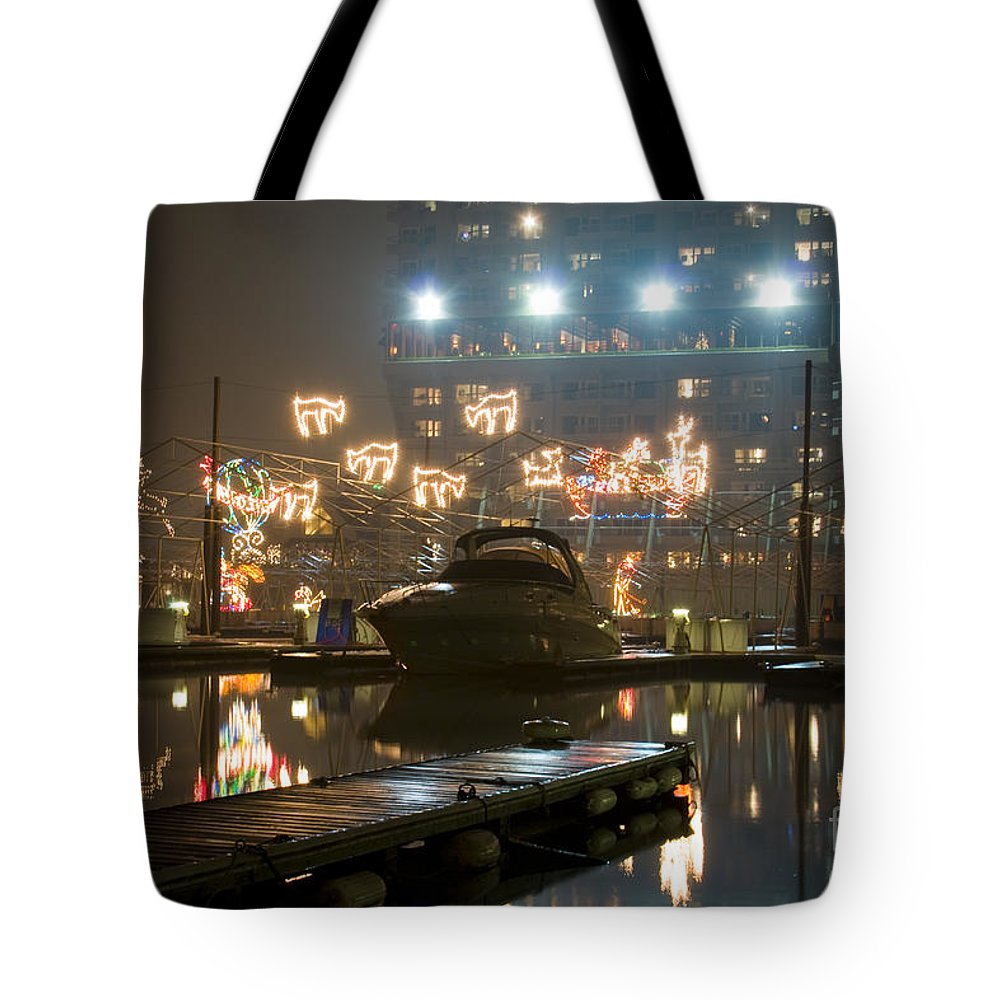 Christmas Lights Tote Bag featuring the photograph Reflections Of Christmas by Idaho Scenic Images Linda Lantzy
