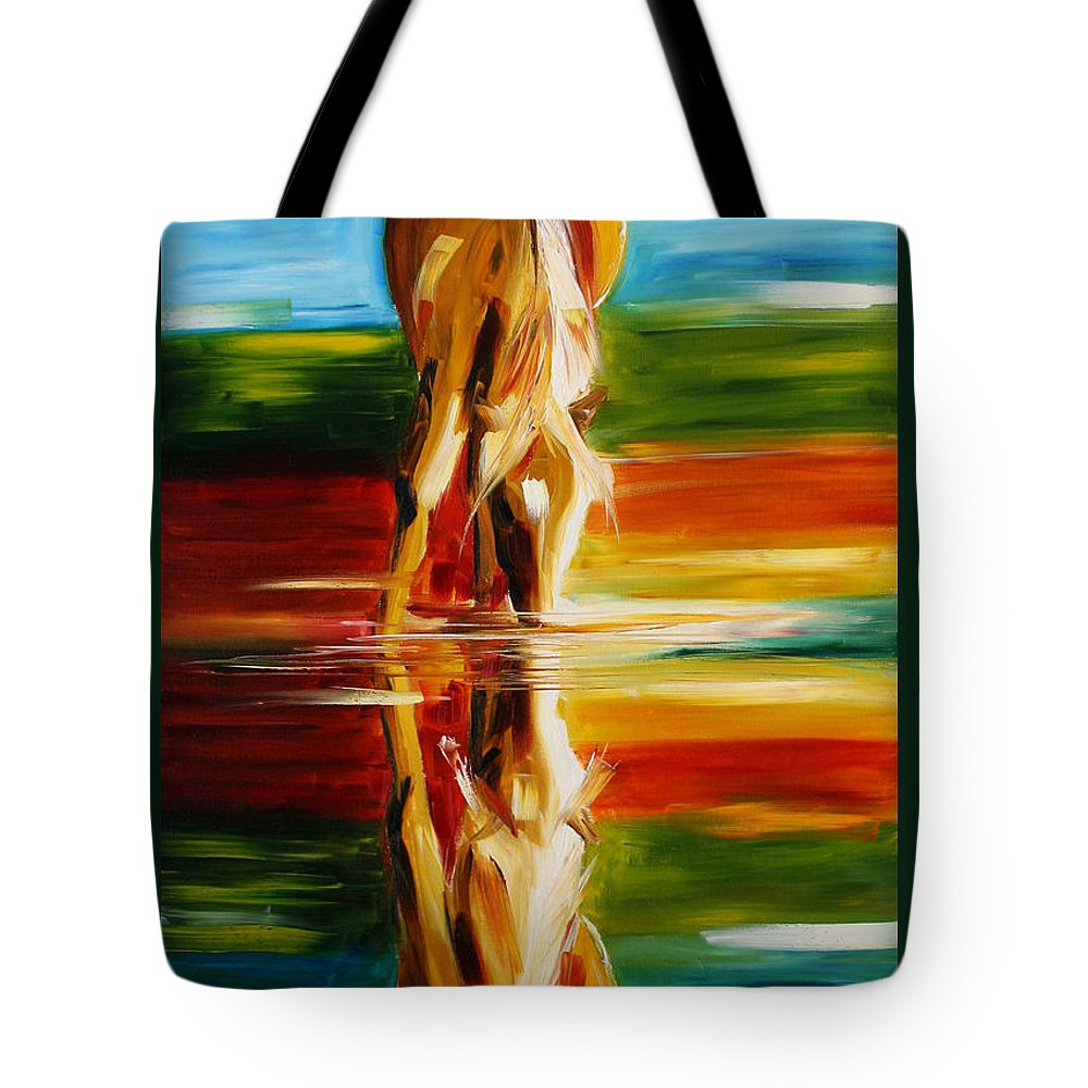 Horse Paintings Tote Bag featuring the painting Reflections Of Glory by Laurie Pace