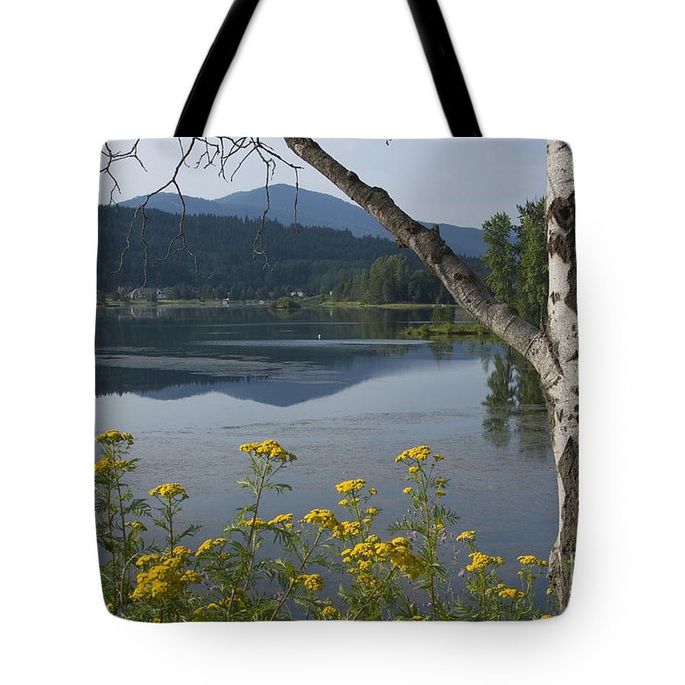 Landscape Tote Bag featuring the photograph Reflections Of Summer by Idaho Scenic Images Linda Lantzy