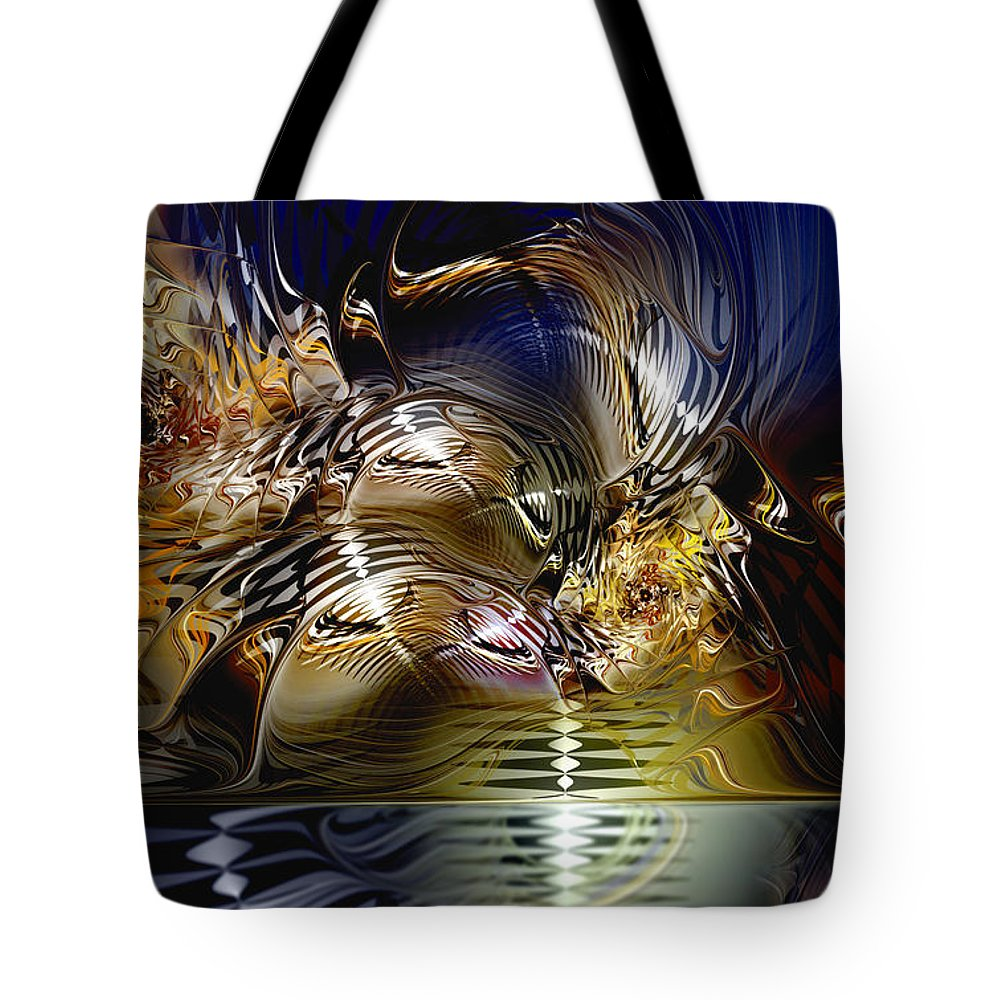 Abstract Tote Bag featuring the digital art Reflections Of The Dervish by Casey Kotas