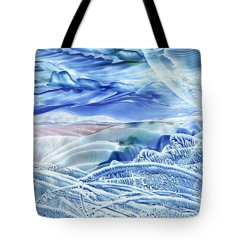 Wax Tote Bag featuring the painting Reflections Of The Moon by Shelley Jones