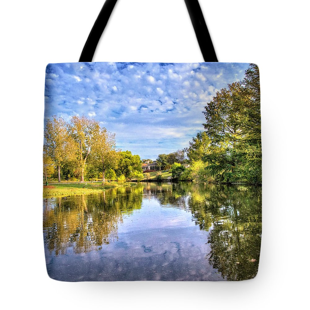 Cibolo Creek Tote Bag featuring the photograph Reflections On Cibolo Creek by Lynn Bauer
