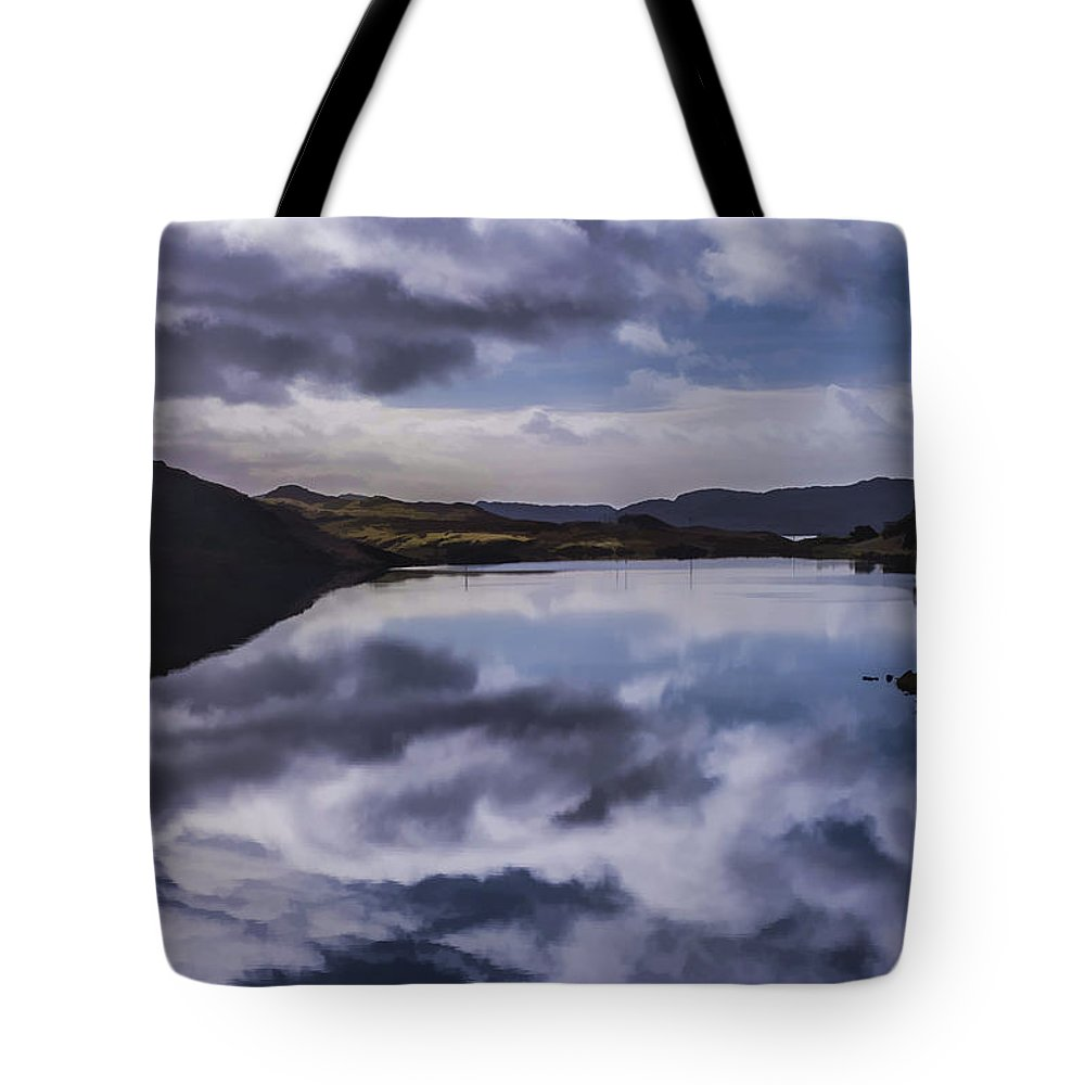 Scotland Tote Bag featuring the photograph Reflections On Harris by Neil Alexander