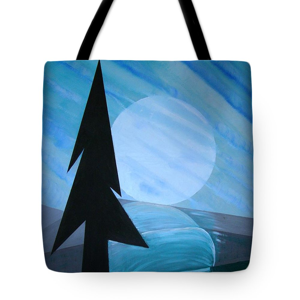 Phases Of The Moon Tote Bag featuring the painting Reflections On The Day by J R Seymour