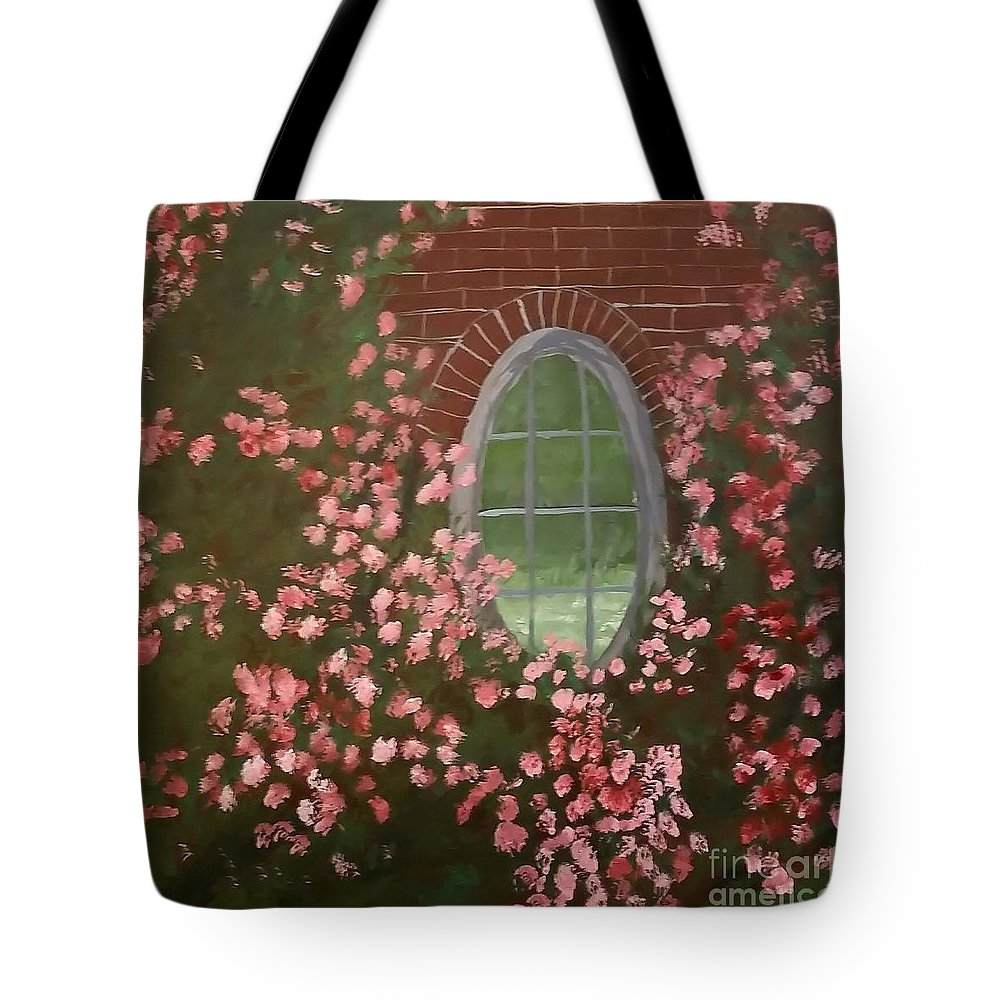 Tote Bag featuring the painting Reflections by Ron Chabot