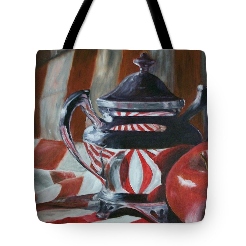 Still Life Tote Bag featuring the painting Reflections by Stephen King