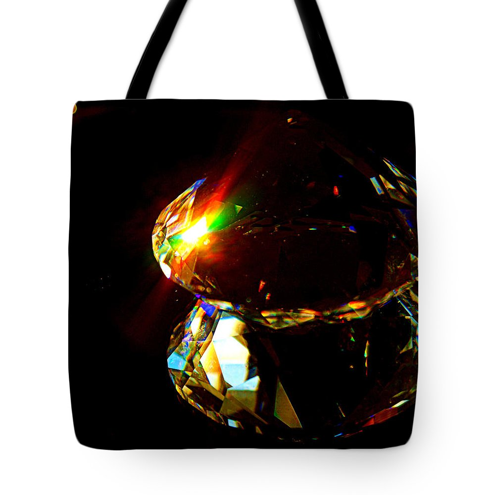 Crystal Tote Bag featuring the photograph Refraction Reflection by Cricket Hackmann