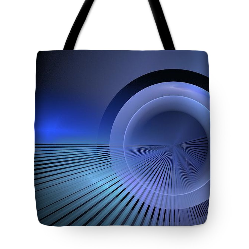 Tote Bag featuring the digital art Refractive Index Of Life by Doug Morgan