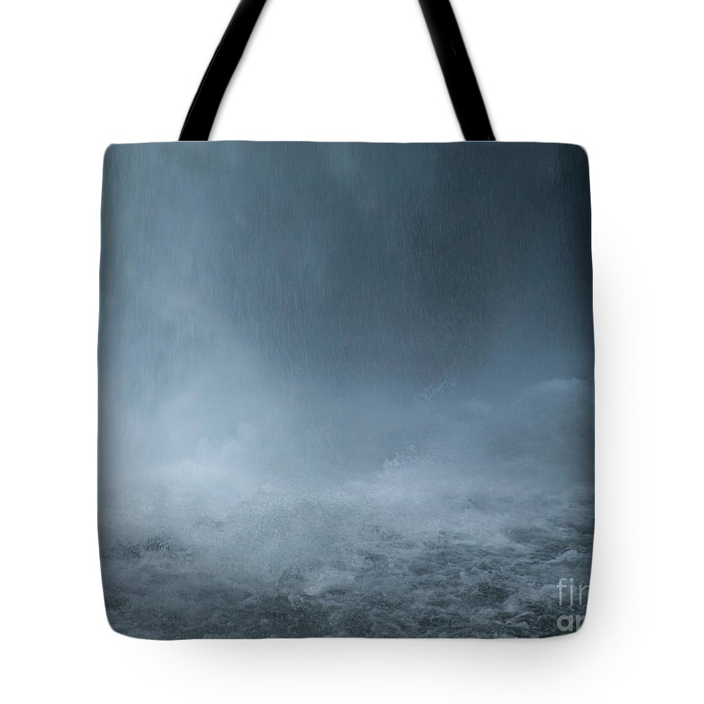Waterfall Tote Bag featuring the photograph Refreshing by Shari Nees