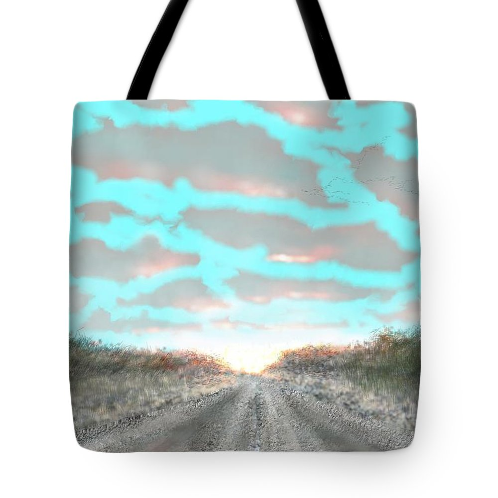 Refugio Tote Bag featuring the digital art Refugio by Kerry Beverly