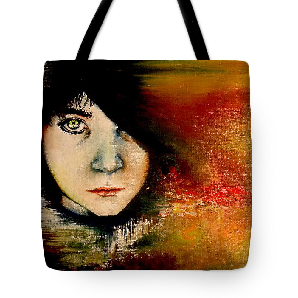 Sunset Tote Bag featuring the painting Regaining Strenght by Freja Friborg