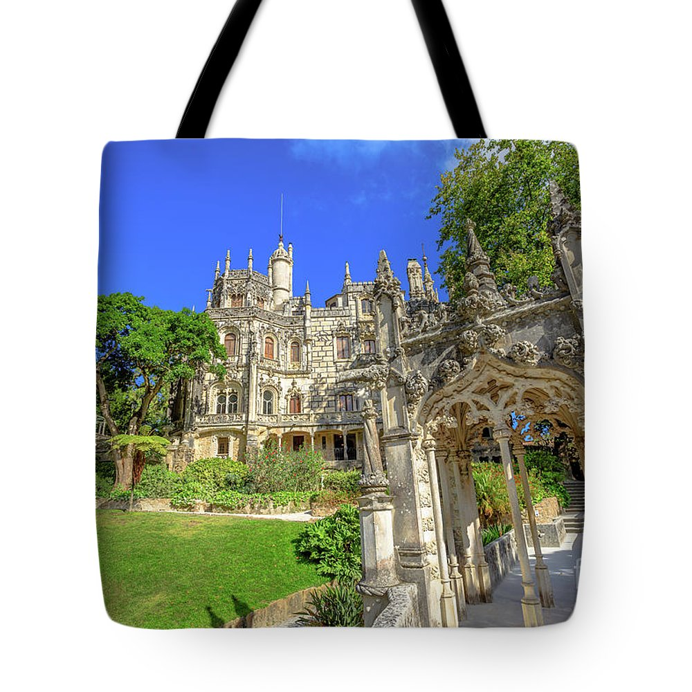 Sintra Tote Bag featuring the photograph Regaleira Sintra Portugal by Benny Marty