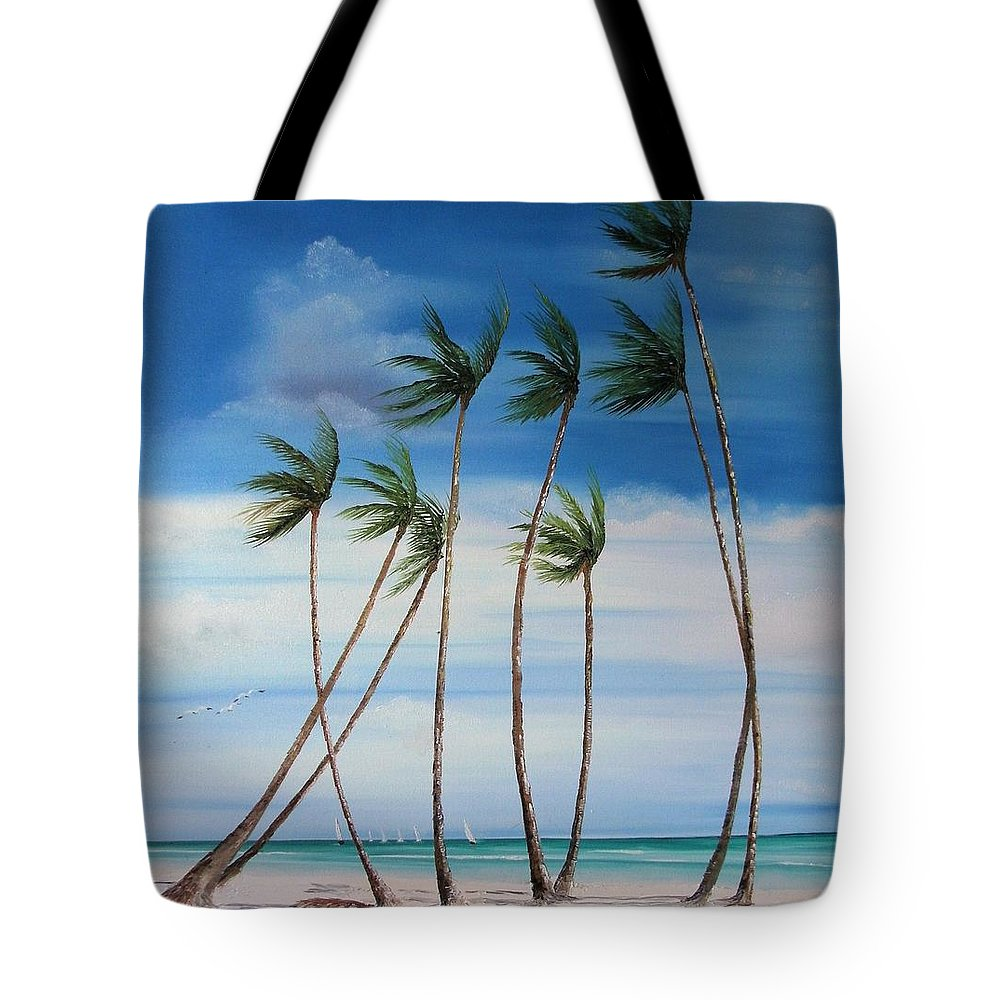 Beaches Tote Bag featuring the painting Regatta by Maria Mills