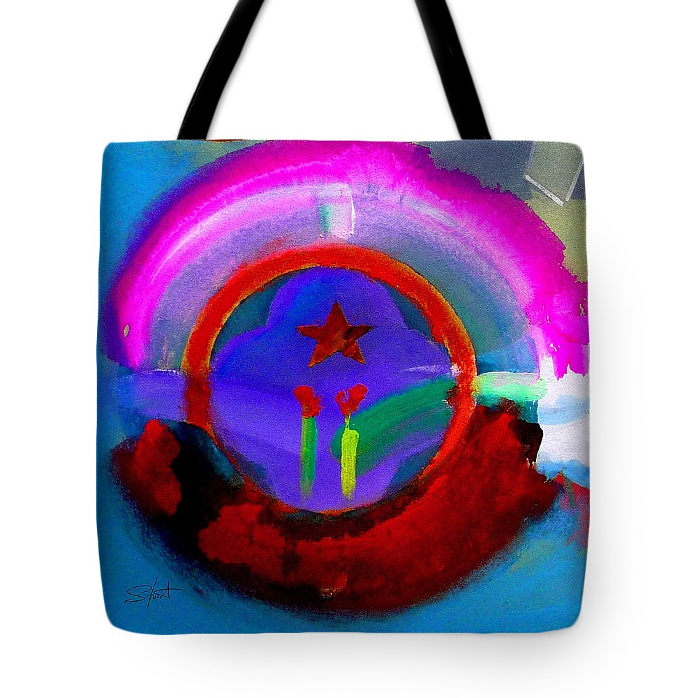 Love Tote Bag featuring the painting Regeneration by Charles Stuart