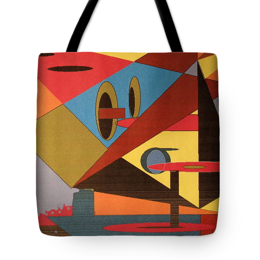 Abstract Tote Bag featuring the digital art Regret by Ian MacDonald