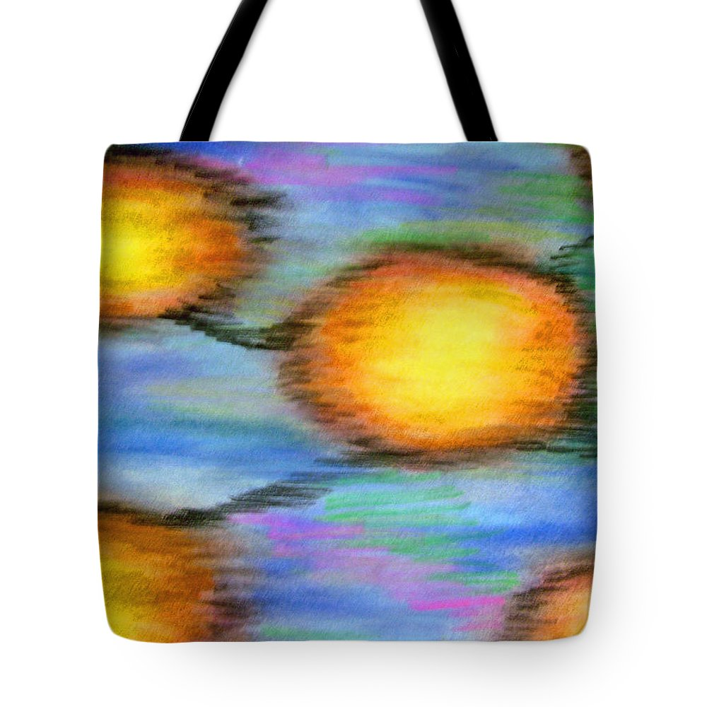 Tote Bag featuring the drawing Reincarnation by Jan Gilmore