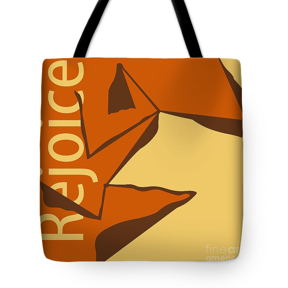 Graphic Design Tote Bag featuring the digital art Rejoice by Phil Perkins