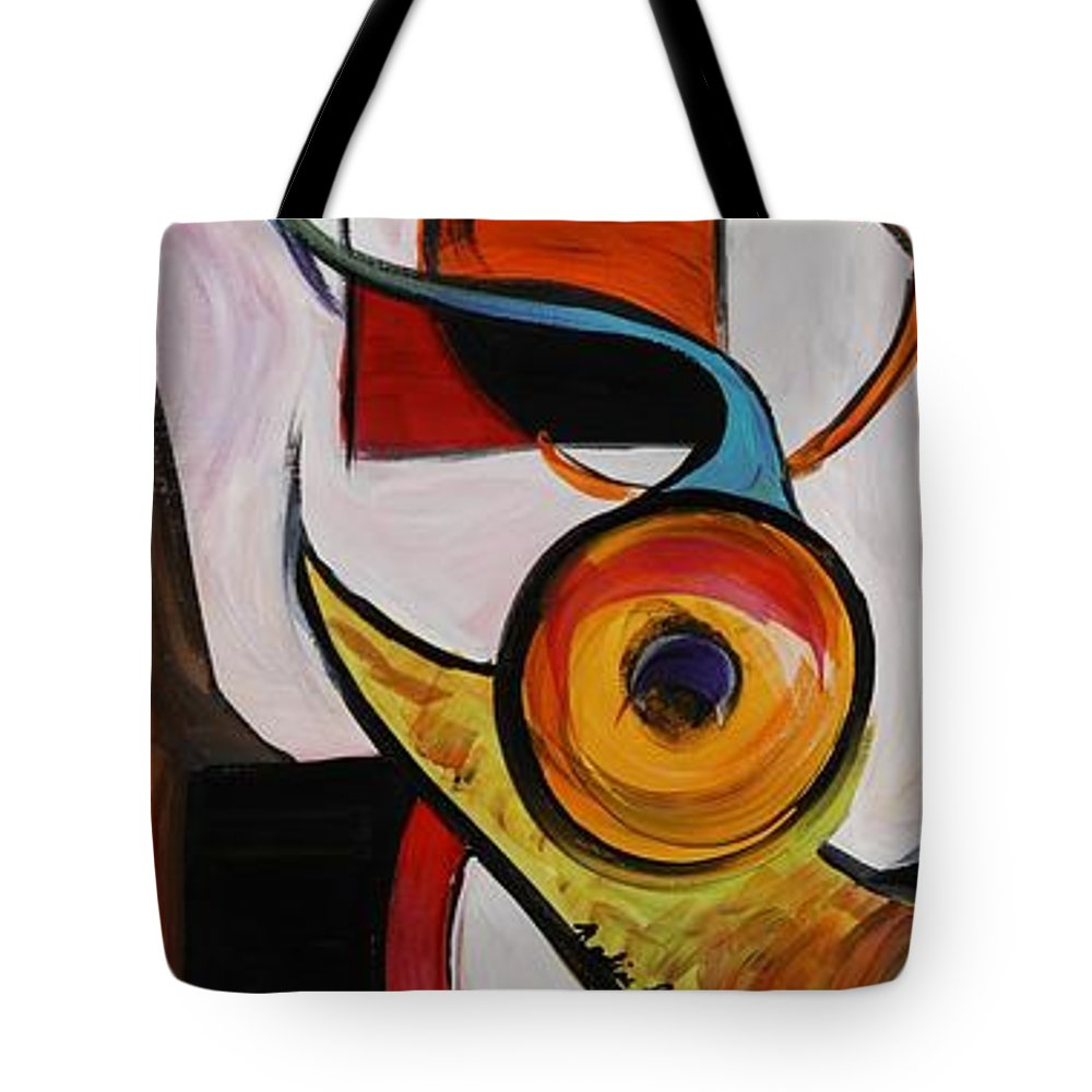 Shapes Tote Bag featuring the painting Relationships by Nadine Rippelmeyer