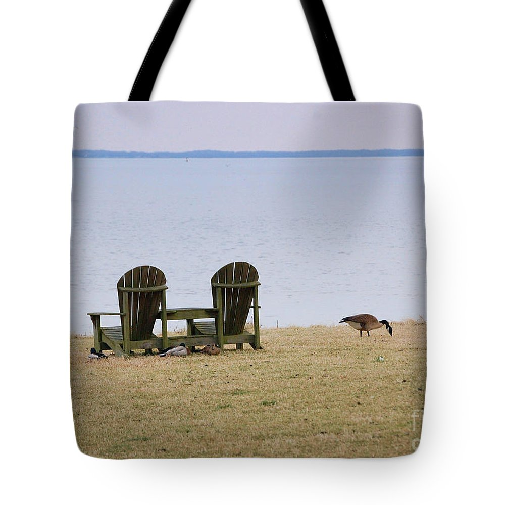 Chairs Tote Bag featuring the photograph Relax by Debbi Granruth