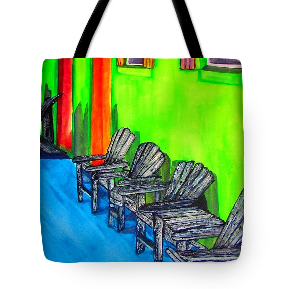 Tropical Tote Bag featuring the painting Relax by Lil Taylor