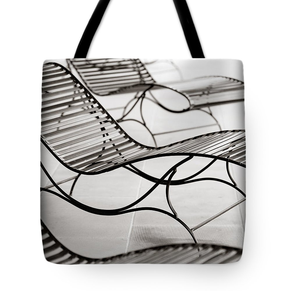 Chair Tote Bag featuring the photograph Relaxation by Marilyn Hunt