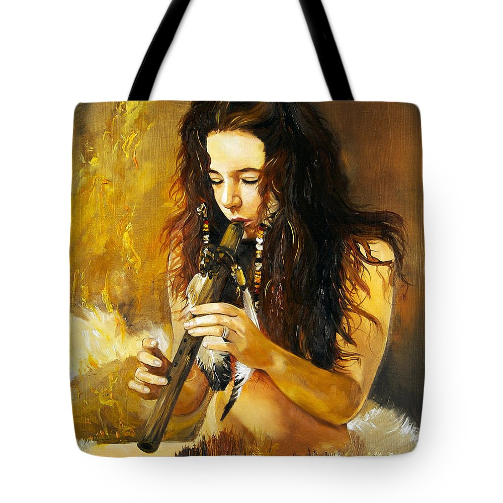Woman Tote Bag featuring the painting Release by J W Baker