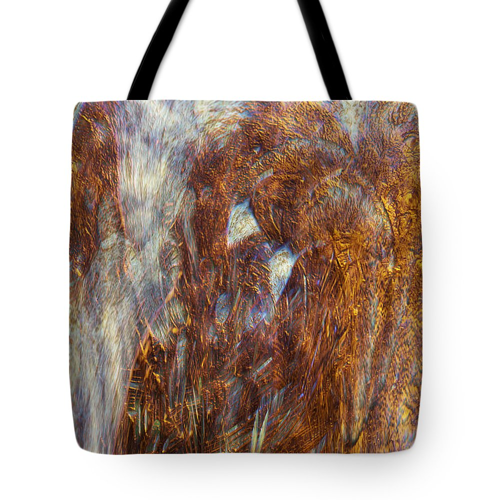 Abstract Art Tote Bag featuring the digital art Release by Linda Sannuti