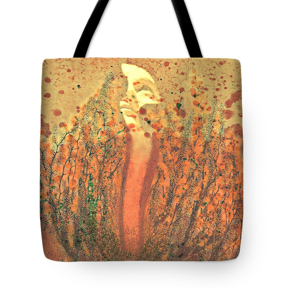 Abstract Tote Bag featuring the digital art Released by Aurora Art