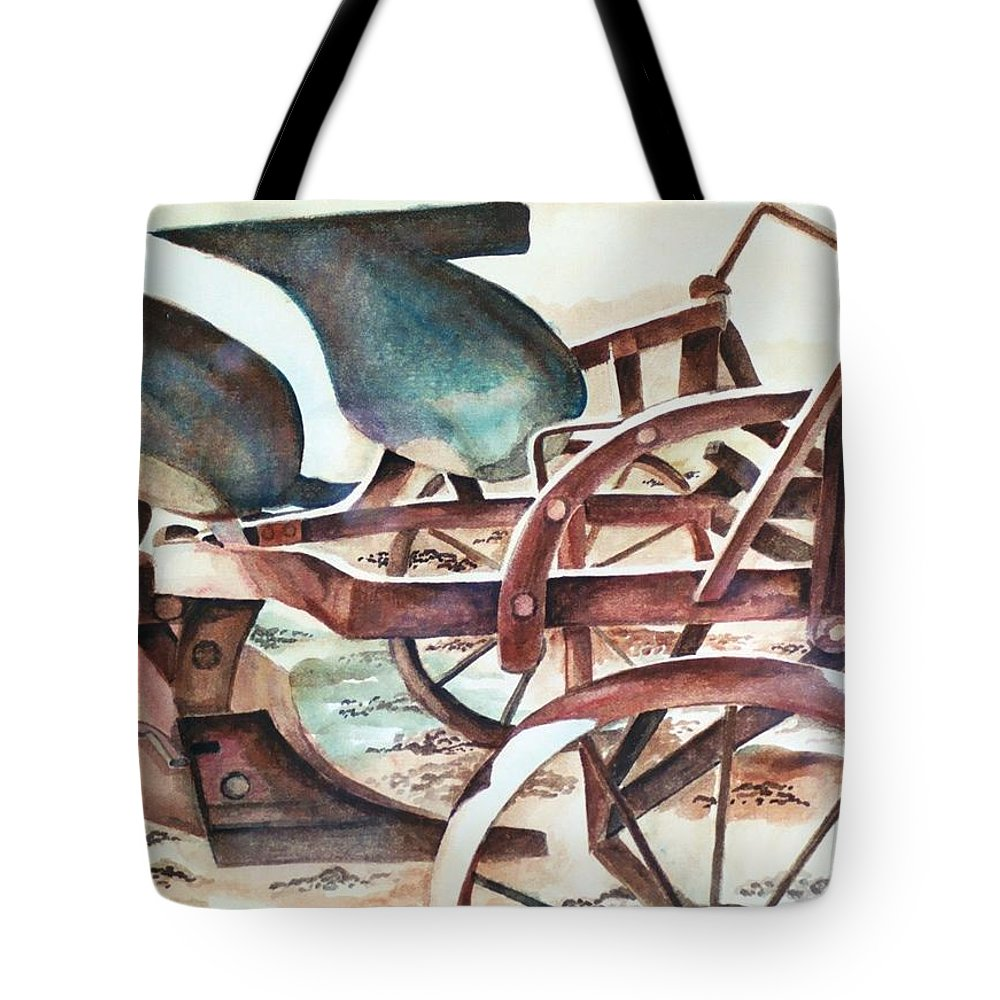 Relic Tote Bag featuring the painting Relic by Jun Jamosmos