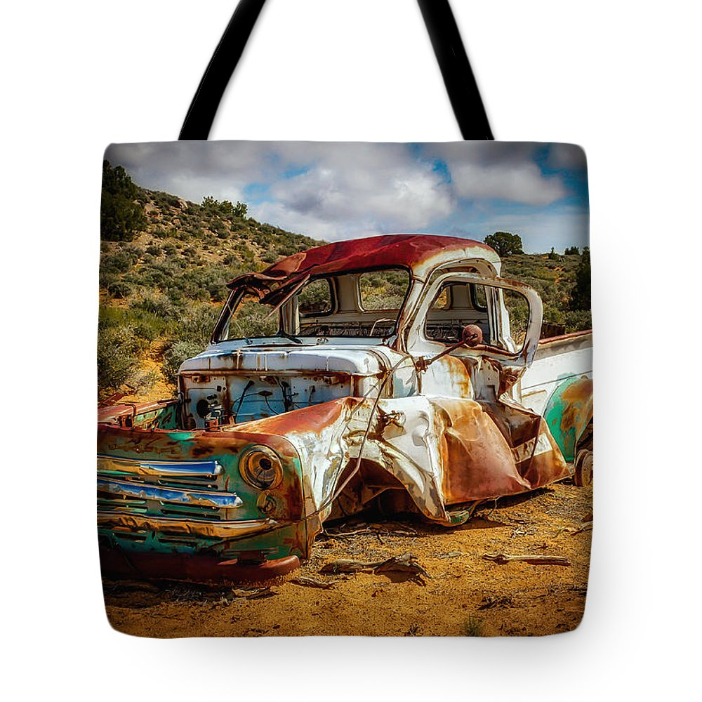 Dodge Tote Bag featuring the photograph Relic by Mark Memmott
