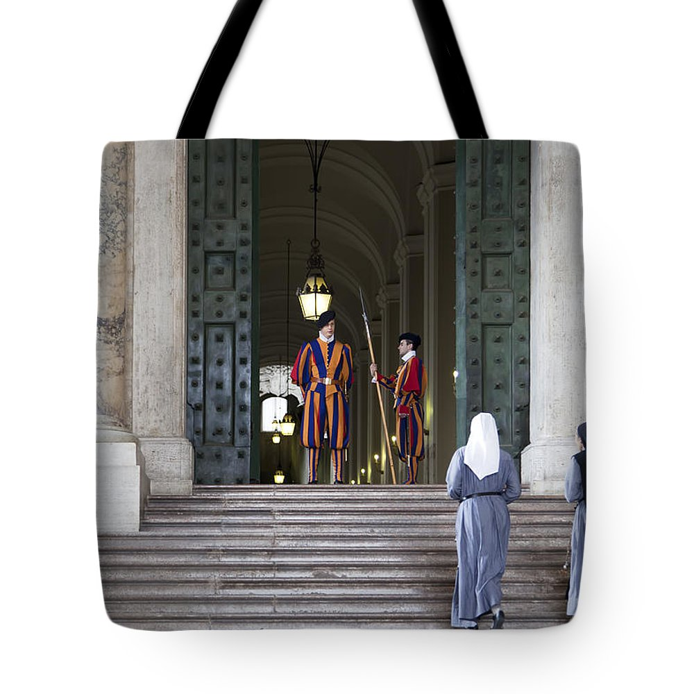 Italy Tote Bag featuring the photograph Religious Visit by Janet Fikar