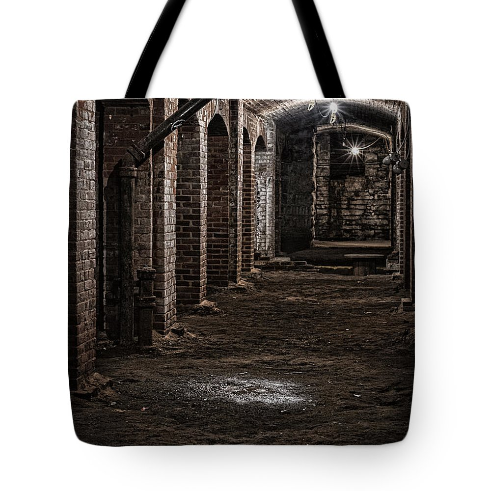 2015 Tote Bag featuring the photograph Remains by Kristi Swift
