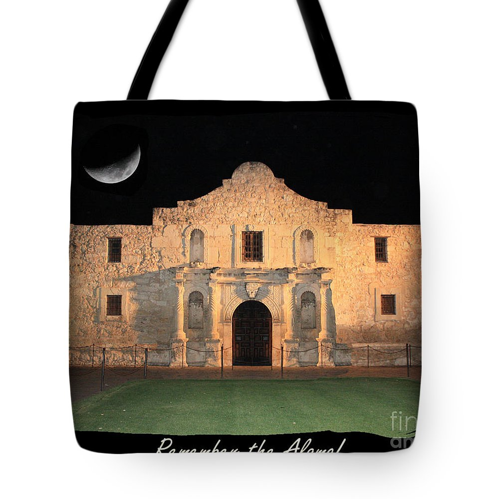 Remember The Alamo Tote Bag featuring the photograph Remember The Alamo by Carol Groenen