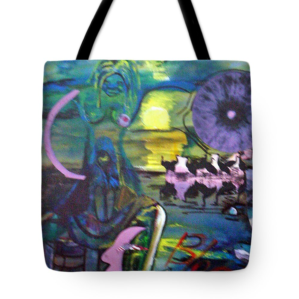 Water Tote Bag featuring the painting Remembering 9-11 by Peggy Blood