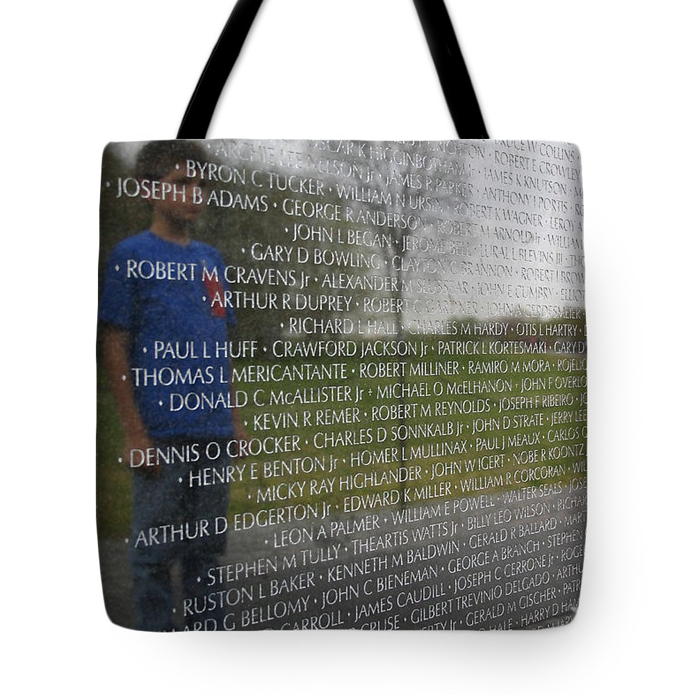 Memorial Tote Bag featuring the photograph Remembering by Mary Haber