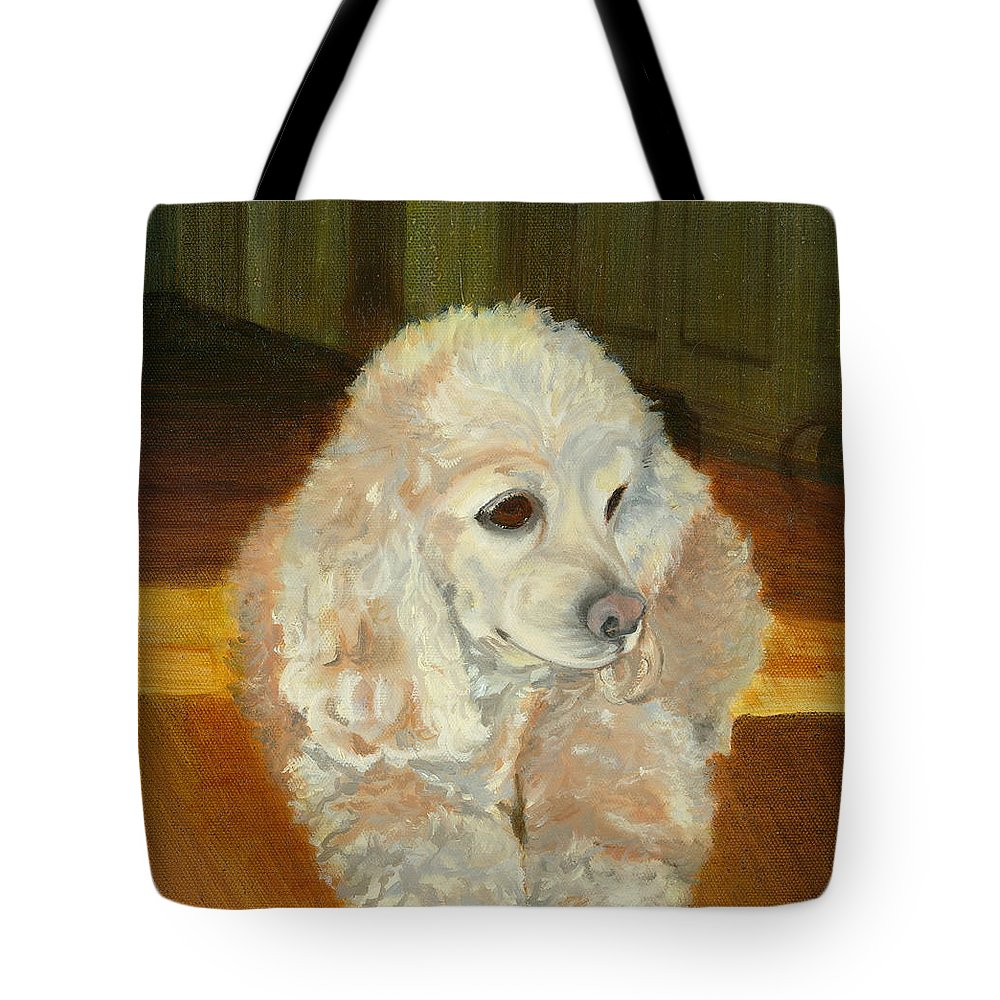 Animal Tote Bag featuring the painting Remembering Morgan by Paula Emery