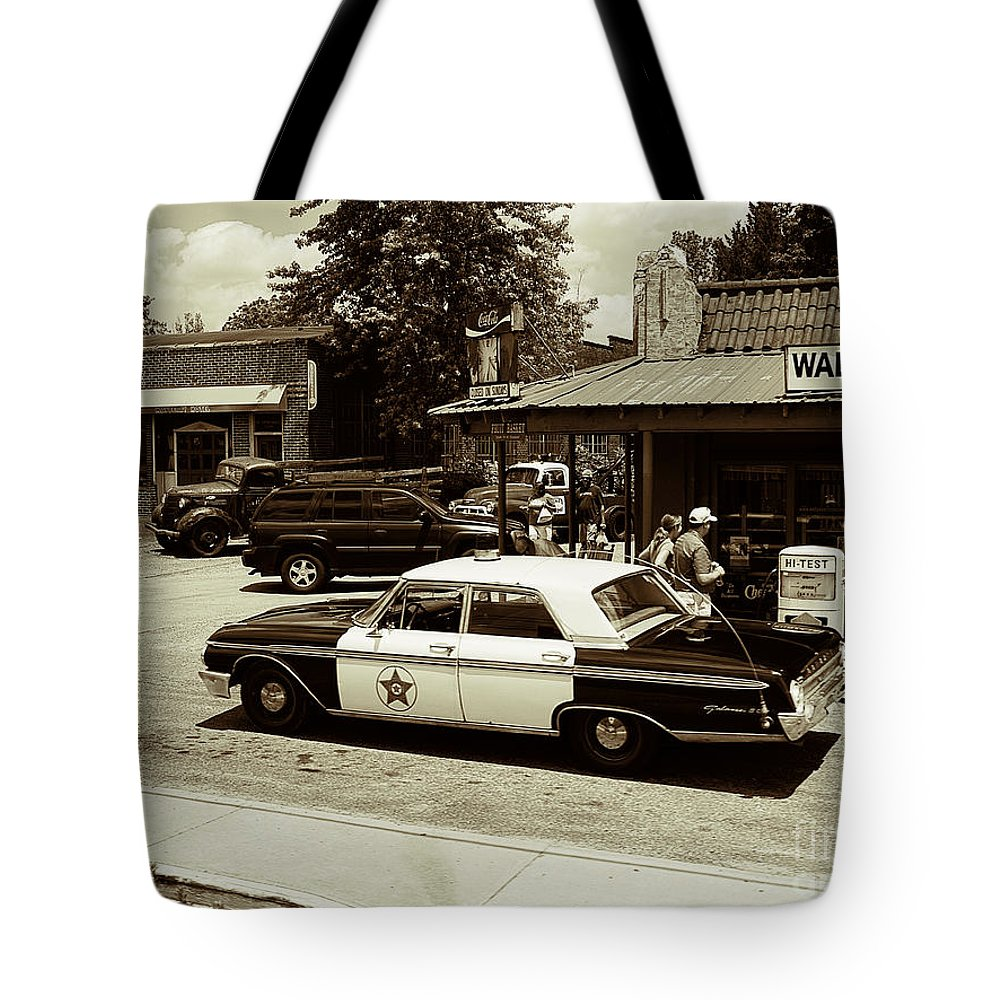 Mount Airy Tote Bag featuring the photograph Reminder Of Times Past by Brenda Kean