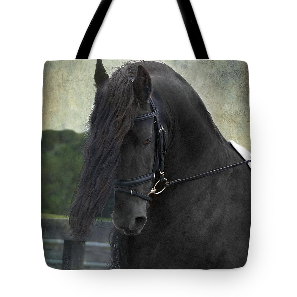 Horses Tote Bag featuring the photograph Remme by Fran J Scott