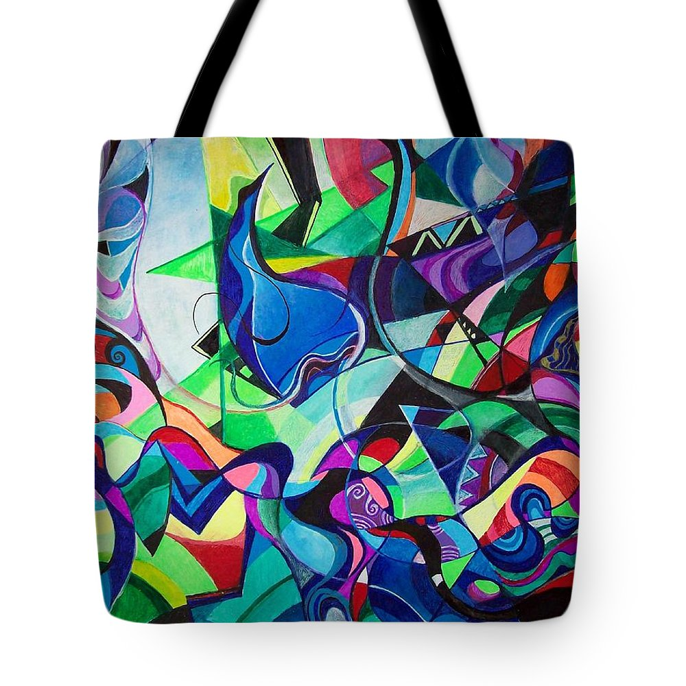 Renaissance Claudio Monteverdi Tote Bag featuring the painting Renaissance by Wolfgang Schweizer