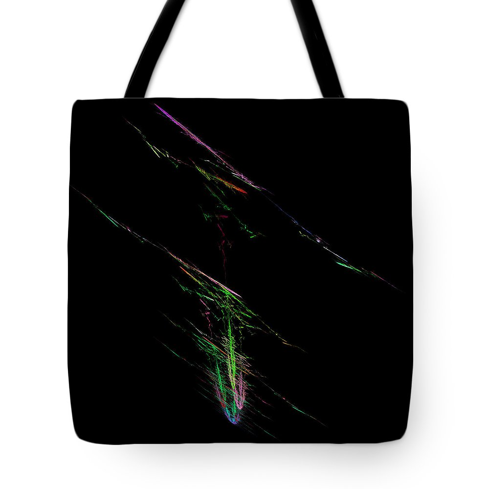 Abstract Tote Bag featuring the digital art Rendentive by Andrew Kotlinski