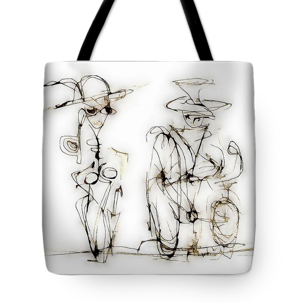 Abstraction Tote Bag featuring the digital art Rendezvous 4015 by Marek Lutek