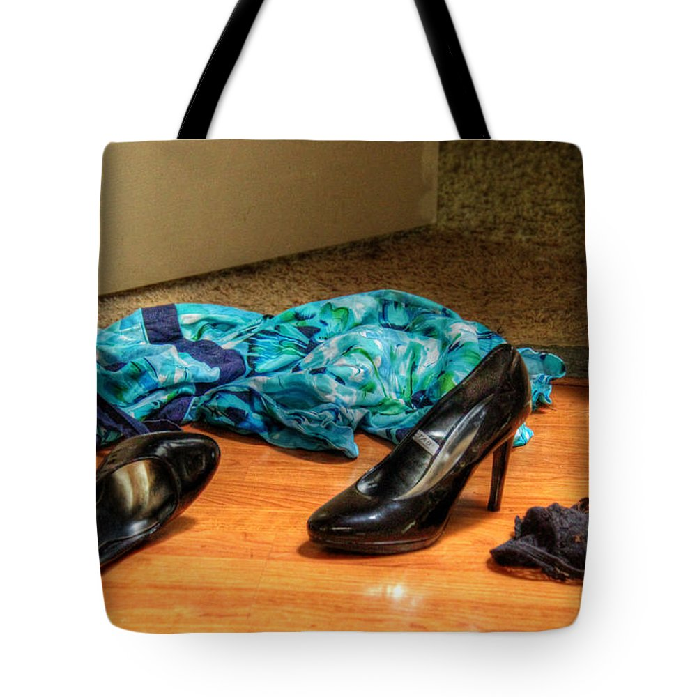 Rendezvous Tote Bag featuring the photograph Rendezvous Do Not Disturb by Andy Lawless