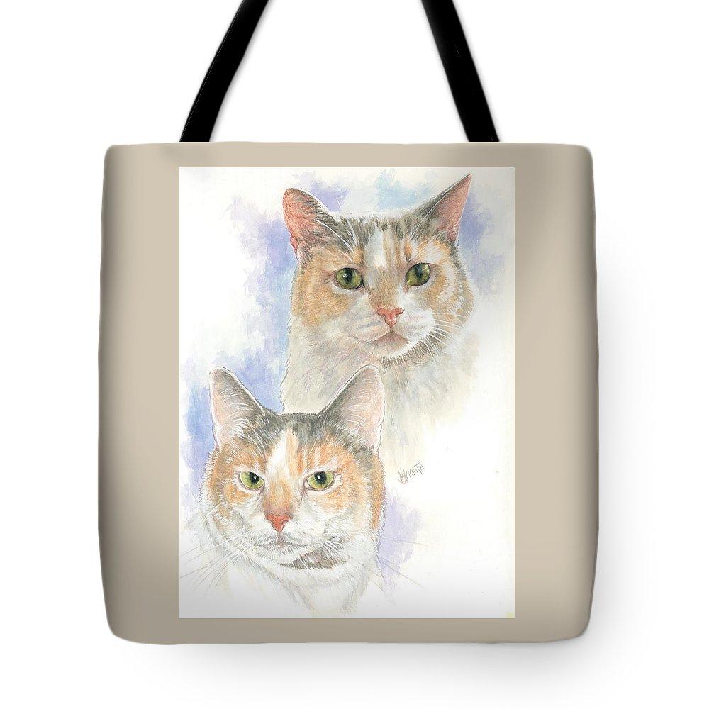 Domestic Tote Bag featuring the mixed media Reno by Barbara Keith