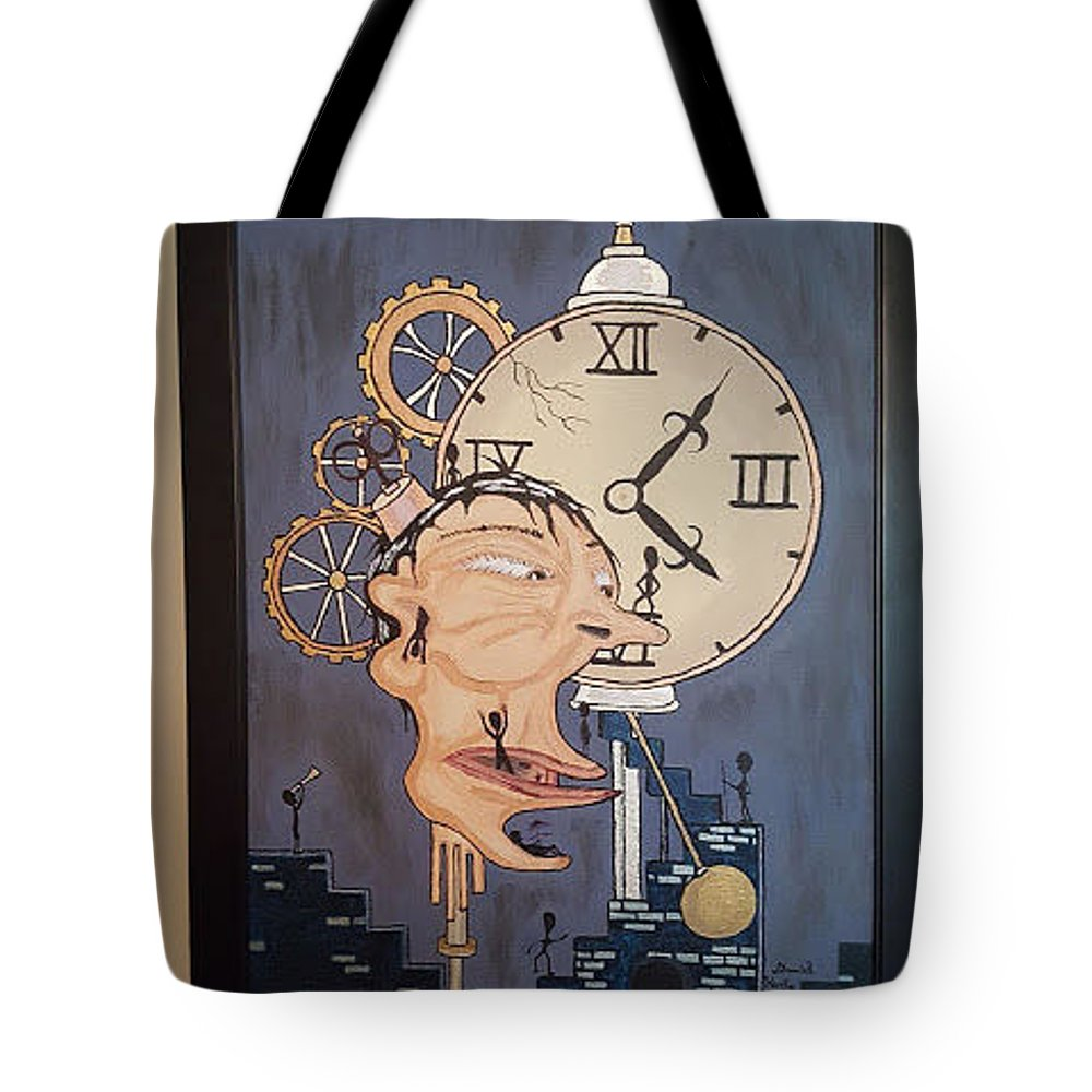 Tote Bag featuring the painting Reparations by Daniel Kurtz