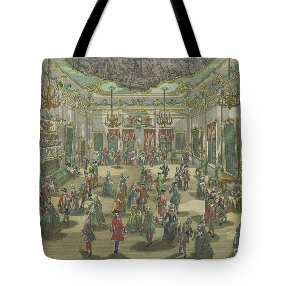 Grand Perspectives Tote Bag featuring the painting Representation D'un Bal De Noblesse by MotionAge Designs