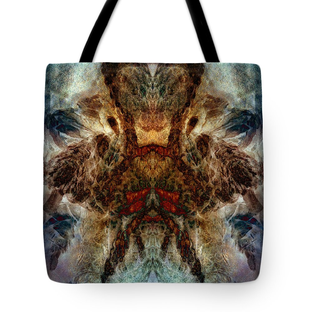 Temper Tote Bag featuring the digital art Repressed Temper by WB Johnston
