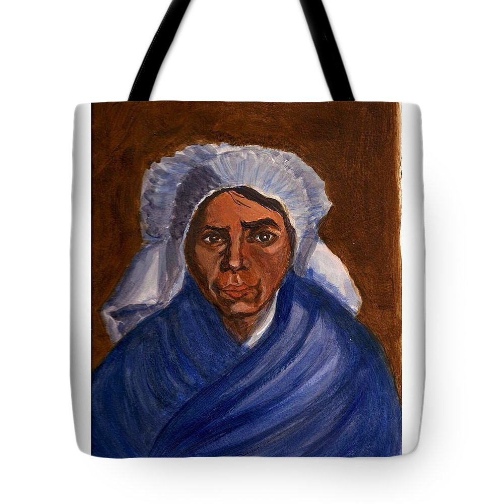 Peasant Woman By Van Gogh Reproduced Tote Bag featuring the painting Reproduction Of Van Gogh by Asha Sudhaker Shenoy