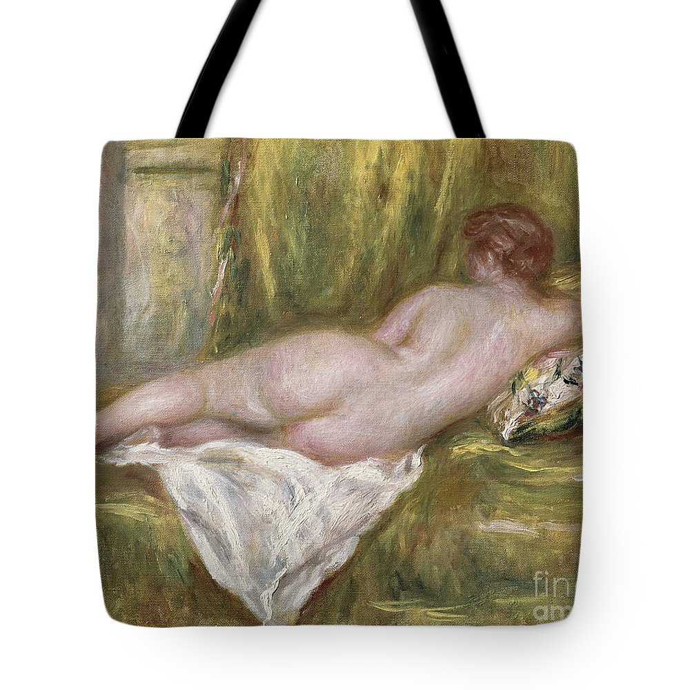 Renoir Tote Bag featuring the painting Rest after the Bath by Pierre Auguste Renoir