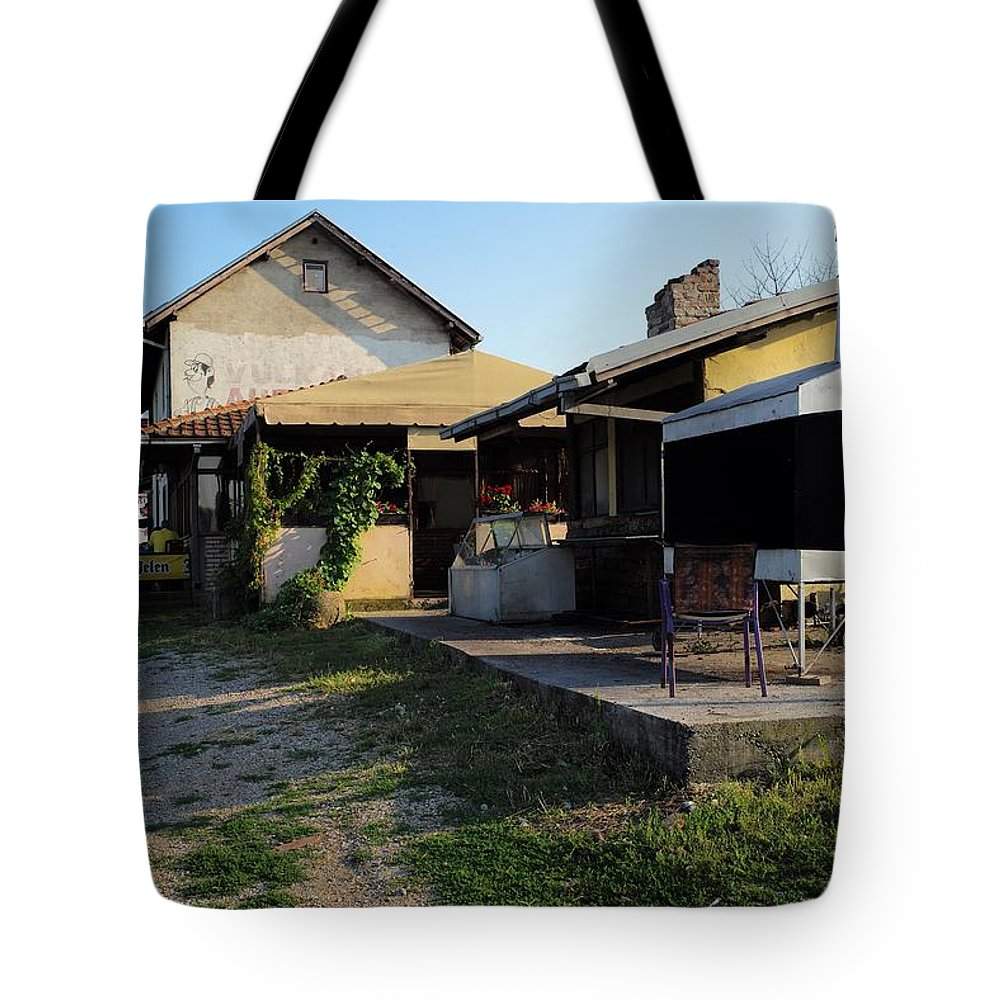 Belgrade Tote Bag featuring the photograph Restaurant On The Outskirts by Piotr Kuzniar