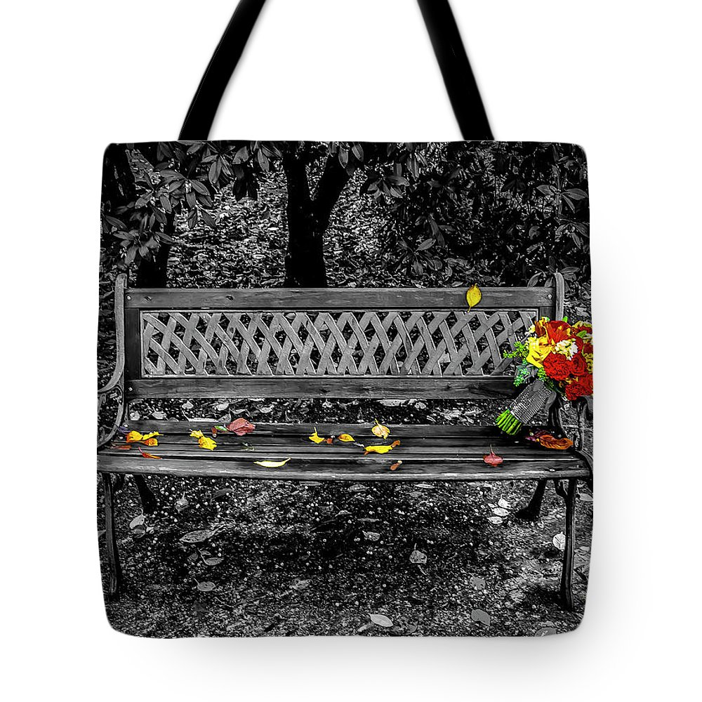 Landscape Tote Bag featuring the photograph Resting Flowers by William Zayas Cruz